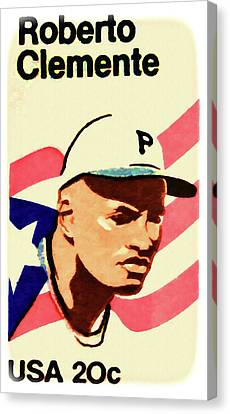 The Roberto Clemente  Canvas Print by Lanjee Chee