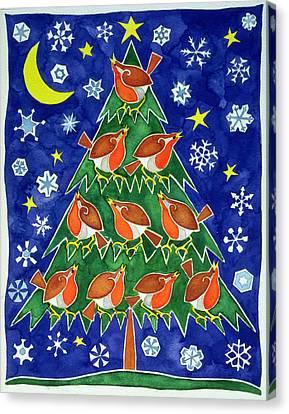 The Robins Chorus Canvas Print by Cathy Baxter