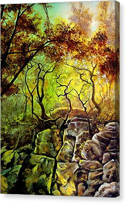 The Rocks In Starachowice Canvas Print by Henryk Gorecki