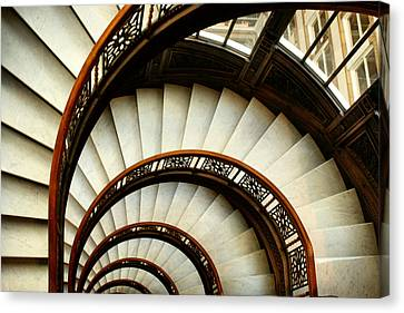 The Rookery Spiral Staircase Canvas Print by Ely Arsha