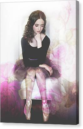 The Rose Ballerina Canvas Print by Melissa Deanching