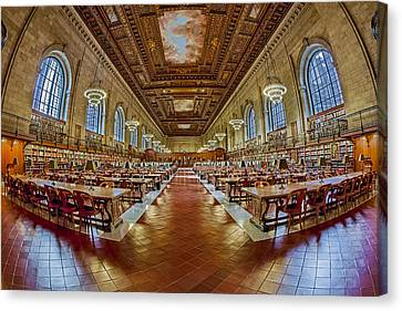The Rose Main Reading Room Nypl Canvas Print by Susan Candelario