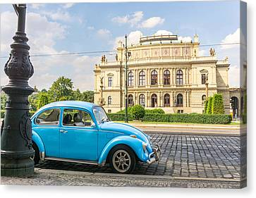 The Rudolfinium In Prague Canvas Print by Jim Hughes