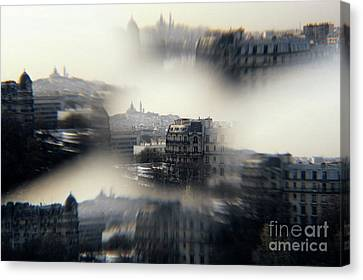 The Sacre-coeur Basilica On Montmartre Hill Canvas Print by Sami Sarkis