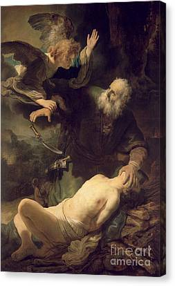 The Sacrifice Of Abraham Canvas Print by Rembrandt