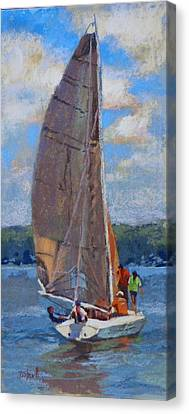 The Sailing Lesson Canvas Print by Donna Shortt