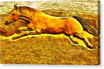 The Sand Horse - Da Canvas Print by Leonardo Digenio