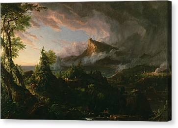 The Savage State Canvas Print by Thomas Cole