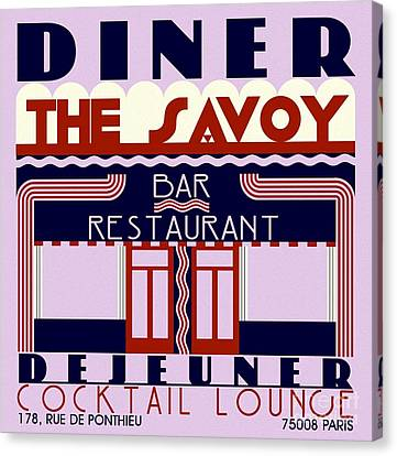 The Savoy Canvas Print by Roberto Prusso