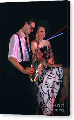 The Sax Man And The Girl Canvas Print by Greg Kopriva