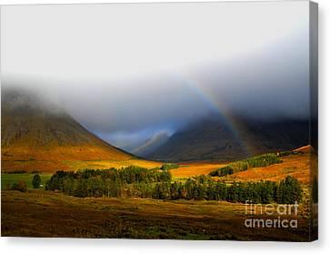 The Scottish Highlands Canvas Print by Steven Brennan