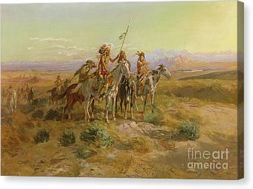 The Scouts Canvas Print by Charles Marion Russell
