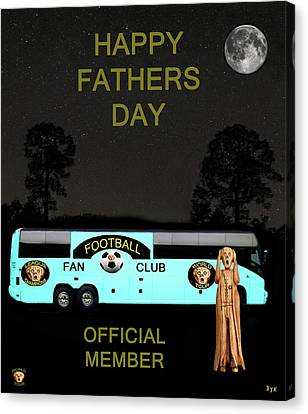 The Scream World Tour Football Tour Bus Fathers Day Canvas Print by Eric Kempson