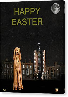 The Scream World Tour St James's Palace Happy Easter Canvas Print by Eric Kempson