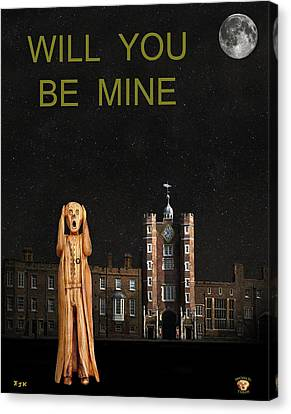 The Scream World Tour St James's Palace Will You Be Mine Canvas Print by Eric Kempson
