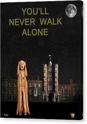 The Scream World Tour St James's Palace You'll Never Walk Alone Canvas Print by Eric Kempson