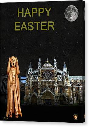 The Scream World Tour Westminster Abbey Happy Easter Canvas Print by Eric Kempson