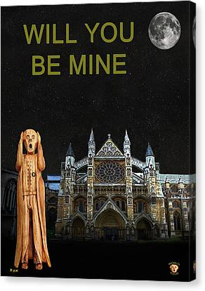 The Scream World Tour Westminster Abbey Will You Be Mine Canvas Print by Eric Kempson