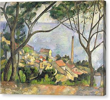 The Sea At L Estaque Canvas Print by Paul Cezanne