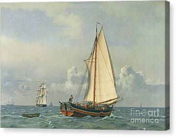The Sea Canvas Print by Christoffer Wilhelm Eckersberg