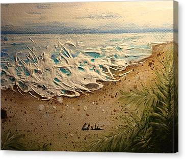 The Sea Canvas Print by Paula Weber