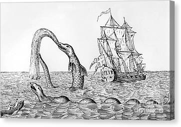 The Sea Serpent Canvas Print by English School