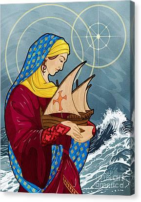The Sea Star Canvas Print by Lawrence Klimecki