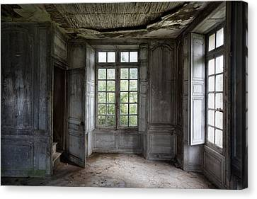 The Secret Stairs To Heaven - Abandoned Building Canvas Print by Dirk Ercken