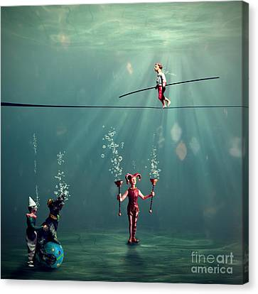 The Secret Venetian Circus Canvas Print by Martine Roch
