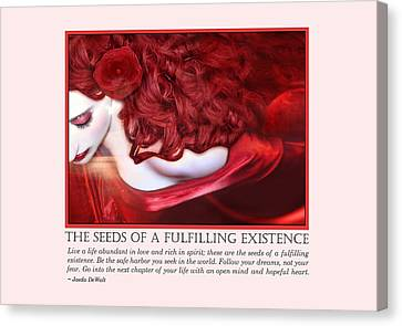 The Seeds Of A Fulfilling Existence Canvas Print by Jaeda DeWalt