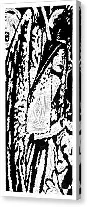 The Seeker --  Hand-pulled Linoleum Cut Canvas Print by Lynn Evenson