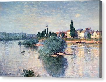 The Seine At Lavacourt Canvas Print by Claude Monet