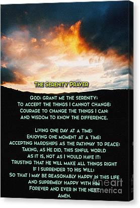 The Serenity Prayer Canvas Print by Celestial Images