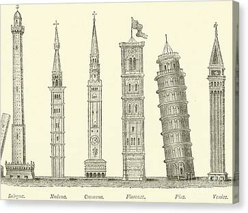 The Seven Great Towers Canvas Print by English School