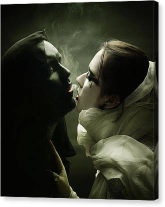 The Shadow And Me Canvas Print by Joanna Jankowska