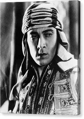 The Sheik, Rudolph Valentino, 1921 Canvas Print by Everett