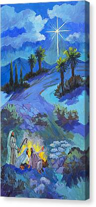 The Shepherds And The Star Canvas Print by Diane McClary