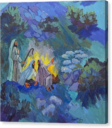 The Shepherds Canvas Print by Diane McClary