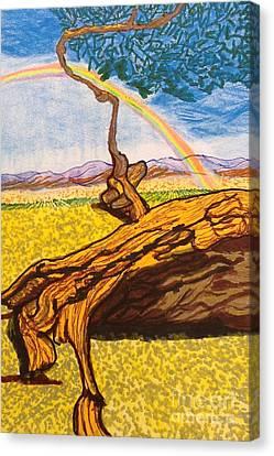 The Sherbet Tree  Canvas Print by Ishy Christine Degyansky