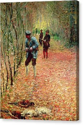 The Shoot Canvas Print by Claude Monet