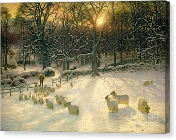 The Shortening Winters Day Is Near A Close Canvas Print by Joseph Farquharson