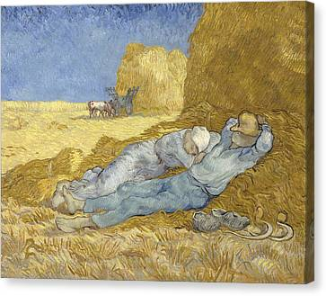 The Siesta, After Millet, 1890 Canvas Print by Vincent Van Gogh