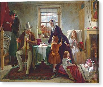 The Silence Of Pure Innocence Persuades Where Speaking Fails Canvas Print by Thomas Brooks