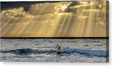 The Silver Surfer Canvas Print by Peter Tellone