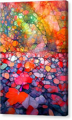 The Simple Dreams Of Fallen Leaves Canvas Print by Tara Turner