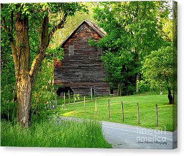 A Grand Barn Canvas Print by Teena Bowers