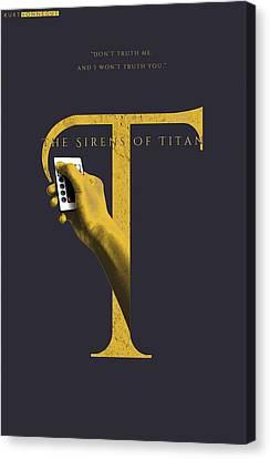 The Sirens Of Titan, Kurt Vonnegut Canvas Print by Connor Sorhaindo