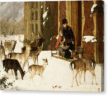 The Sisters Of Charity Canvas Print by Charles Burton Barber