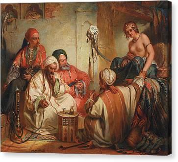 The Slave Market, 1853 Canvas Print by Jean Francois Portaels