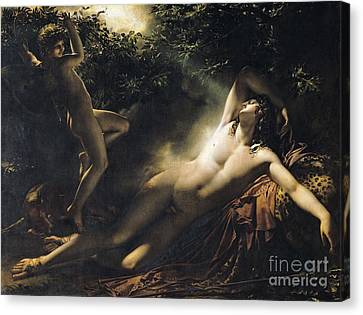 The Sleep Of Endymion Canvas Print by Anne Louis Girodet de RoucyTrioson